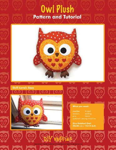 Owl Plush - PDF Accessory Pattern