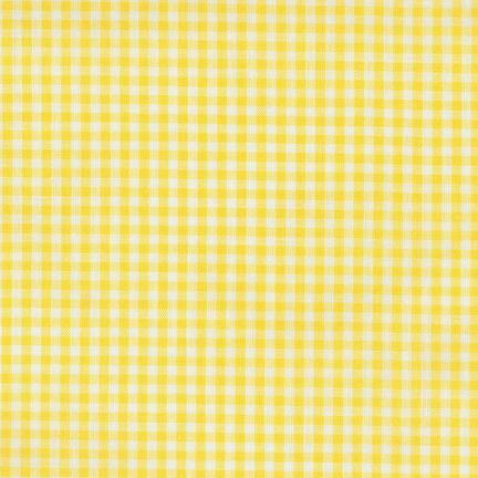 "1/8"" Carolina Gingham in Yellow"