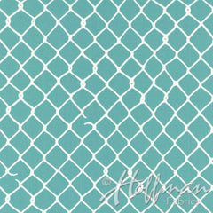 Grafic Fence in Aqua from Grafic by Latifah Saafir Studios for Hoffman Fabrics