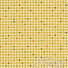 Grafic Records in Mustard from Grafic by Latifah Saafir Studios for Hoffman Fabrics