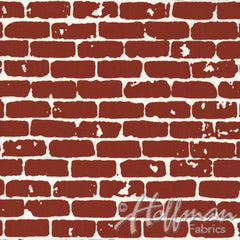 Grafic Brick Wall in Brick from Grafic by Latifah Saafir Studios for Hoffman Fabrics