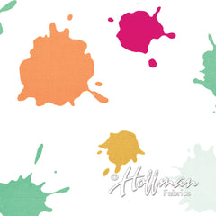 Double Dutch Ice Cream Splat in White from Double Dutch by Latifah Saafir Studios for Hoffman Fabrics