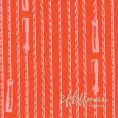 Double Dutch Jump Ropes in Flame from Double Dutch by Latifah Saafir Studios for Hoffman Fabrics