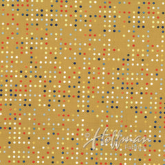Double Dutch Candy Dots in Mustard from Double Dutch by Latifah Saafir Studios for Hoffman Fabrics