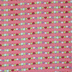 Fruit Stripe in Pink from Trefle by Kokka House Designers  for Kokka