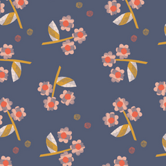 Paper Meadow Scrappy Daisies in Dark Blue from Paper Meadow by Jilly P for Dashwood Studio
