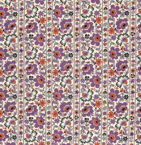 Eastham Floral Stripe in Thistle