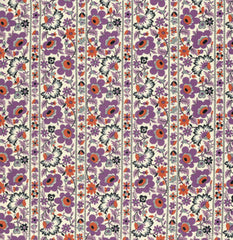 Eastham Floral Stripe in Thistle from Eastham by Denyse Schmidt for Free Spirit