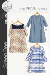 The Pearl Dress - Printed Apparel Pattern by Green Bee Patterns