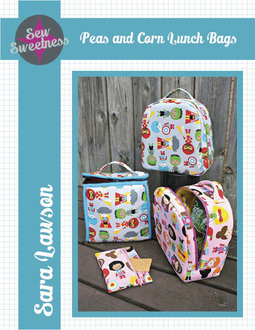 Peas and Corn Lunch Bags - PDF Accessory Pattern