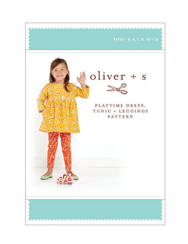Playtime Dress + Leggings 5 - 12 - PDF Apparel Pattern