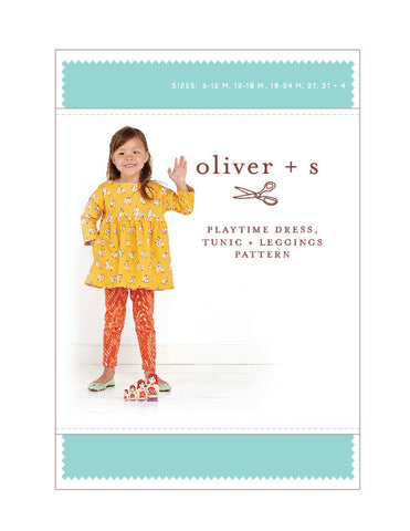 Playtime Dress + Leggings 6m - 4 - PDF Apparel Pattern