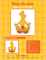 Poloko the Chick - PDF Accessory Pattern by DIY Fluffies