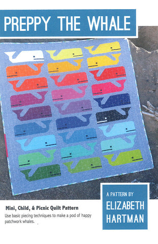 Preppy the Whale – Paper Quilt Pattern