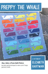 Preppy the Whale – Paper Quilt Pattern from Paintbox Basics by Elizabeth Hartman for Robert Kaufman