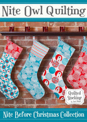 Quilted Stocking - PDF Quilt Pattern by Nite Owl Quilting