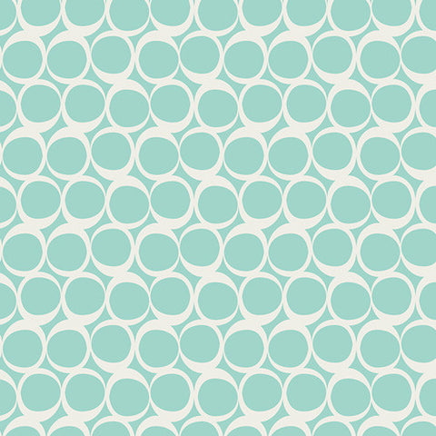 Round Elements in Seafoam Swirls