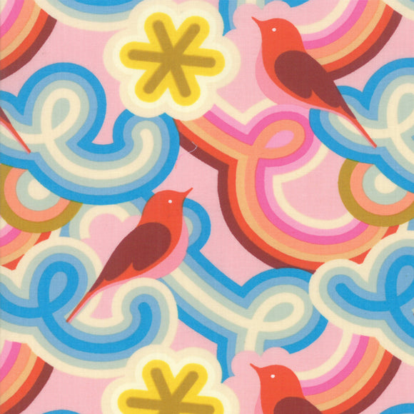 RS0001-11 Social Good Morning in Peony by Melody Miller for Ruby Star Society from Pink Castle Fabrics