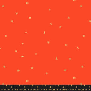 RS0005-31M Ruby Star Society Spark Metallic in Roadster Red by Melody Miller for Ruby Star Society from Pink Castle Fabrics