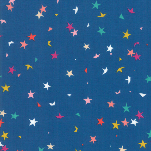 RS1004 15 Pop! Starfetti in Blue Raspberry by Rashida Coleman-Hale for Ruby Star Society from Pink Castle Fabrics