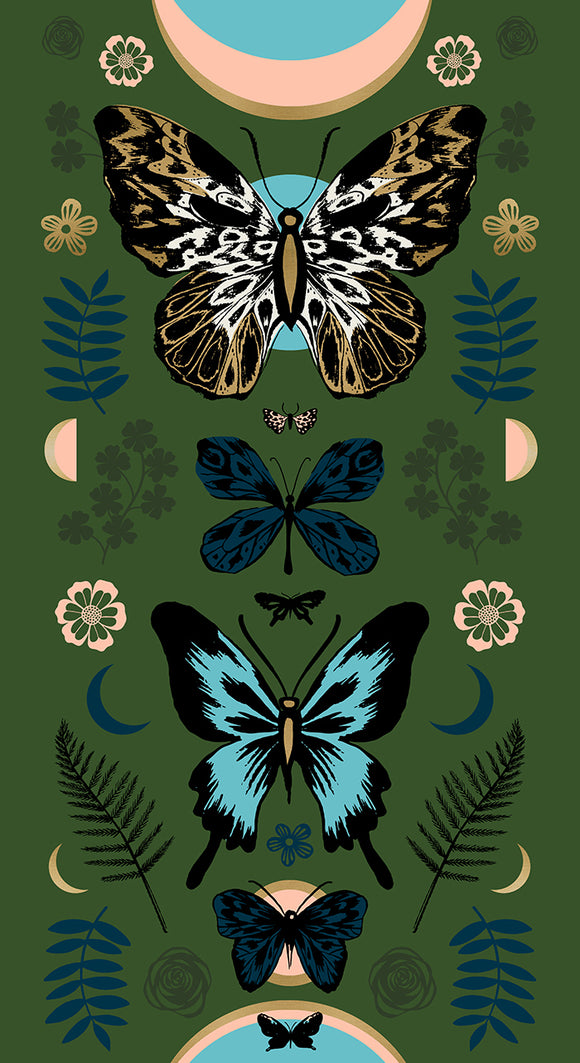 Tiger Fly Mother Metallic Panel in Sarah Green