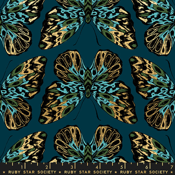Tiger Fly Queen Metallic in Dark Teal