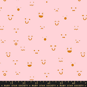 RS3003 17 Anagram Kimoji in Cotton Candy Pink by Kimberly Kight for Ruby Star Society from Pink Castle Fabrics