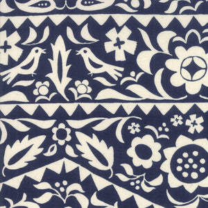 RS4001 12 Alma Market Floral in  Indigo by Alexia Marcelle Abegg for Ruby Star Society from Pink Castle Fabrics