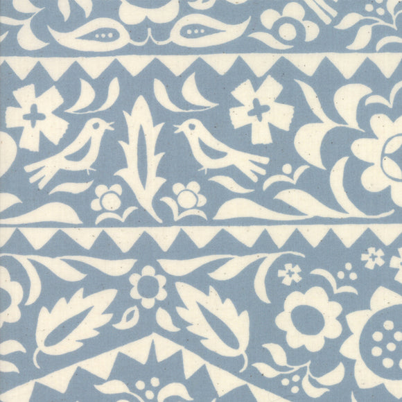 RS4001 22 Alma Market Floral in Sky by Alexia Marcelle Abegg for Ruby Star Society from Pink Castle Fabrics