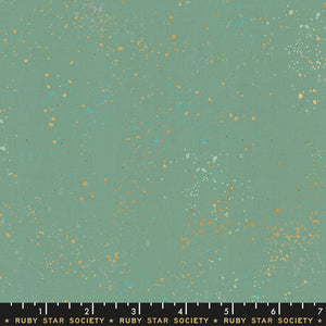 RS5027 70M Ruby Star Society Speckled Metallic in Soft Aqua by Rashida Coleman-Hale for Ruby Star Society from Pink Castle Fabrics