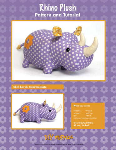 Rhino Plush - PDF Accessory Pattern