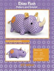 Rhino Plush - PDF Accessory Pattern by DIY Fluffies