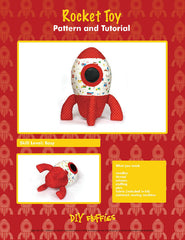 Rocket Toy - PDF Accessory Pattern by DIY Fluffies