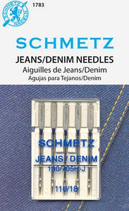 Schmetz Jeans/Denim Needles - Size 110/18 - 5 pack