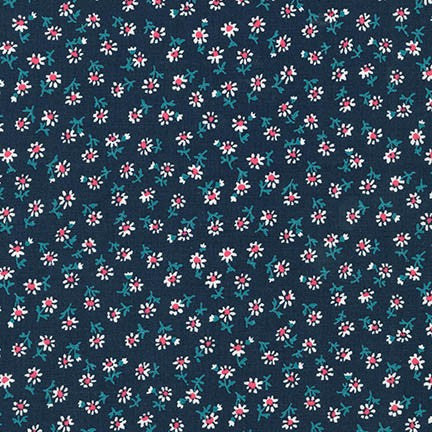 Petite Classics Flowers in Navy