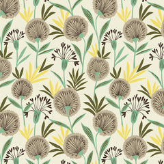 Suffolk Garden Dandelion in Ecru from Suffolk Garden by Dashwood Studio House Designers  for Dashwood Studio