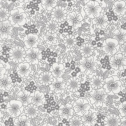 London Calling 6 Floral in Grey