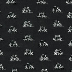 London Calling 6 Bicycles in Black from London Calling 6 by Robert Kaufman House Designers  for Robert Kaufman