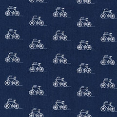 London Calling 6 Bicycles in Indigo from London Calling 6 by Robert Kaufman House Designers  for Robert Kaufman