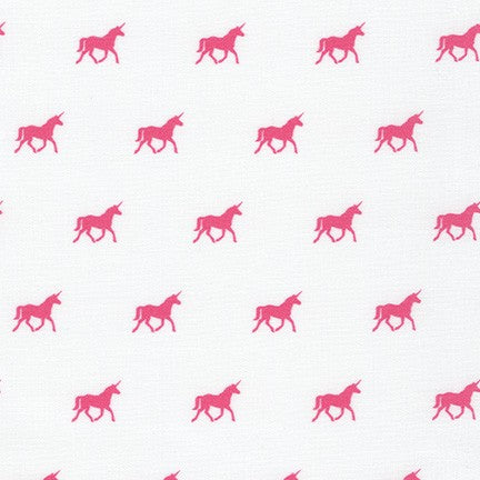 On the Lighter Side Unicorns on Parade in Pink