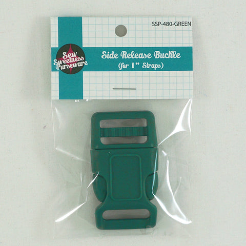 "Side Release Buckle (for 1"" Straps) - Green"