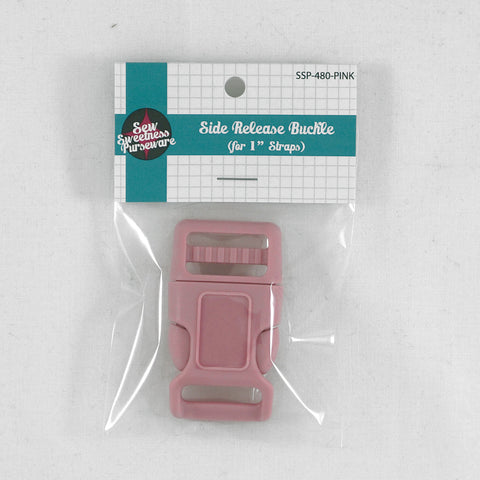 "Side Release Buckle (for 1"" Straps) - Pink"