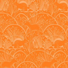 Woodland Etching in Orange from Honey Bee by Dear Stella House Designers  for Dear Stella