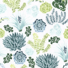 Desert Bloom Succulents in Green from Desert Bloom by Rae Ritchie for Dear Stella