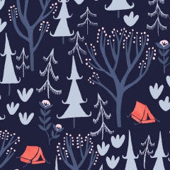 Trail Mix in Navy from Trail Mix by Rae Ritchie for Dear Stella