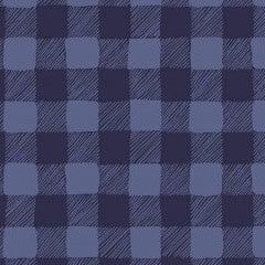Trail Mix Gingham in Navy from Trail Mix by Rae Ritchie for Dear Stella