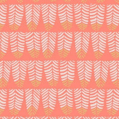 Trail Mix Feathers in Coral from Trail Mix by Rae Ritchie for Dear Stella
