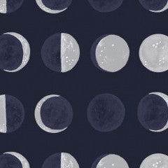 Moon Garden Moon Phases in Navy