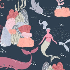 Into The Reef Underwater Scene in Navy from Into The Reef by Rae Ritchie for Dear Stella
