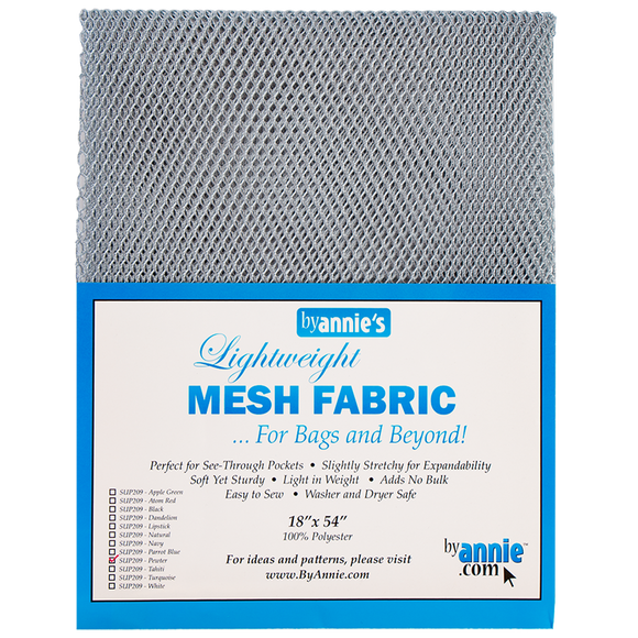 Lightweight Mesh Fabric in Pewter